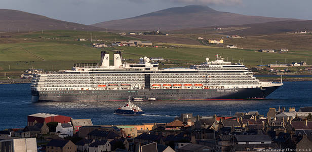 Harbour Scene - Eurodam in Lerwick