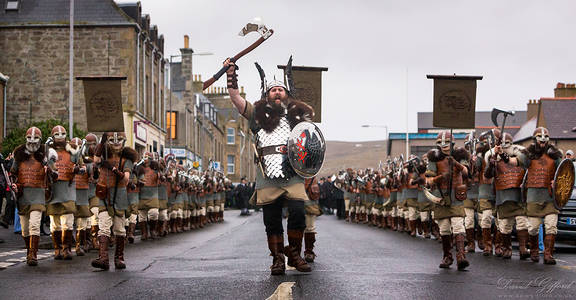 Up Helly Aa 2017 Jarl and Squad