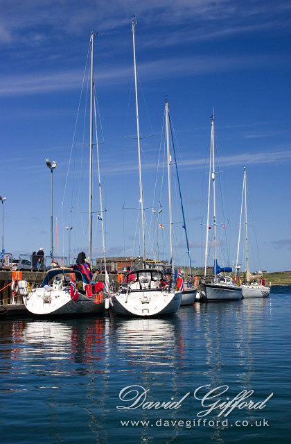 Visiting Yachts in Lerwick Harbour