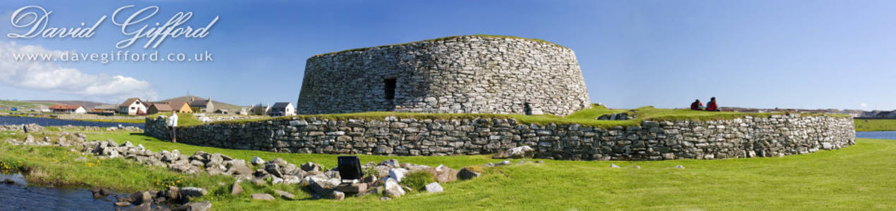 Tourists at Clickimin Broch