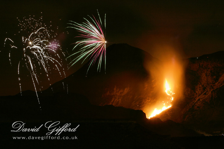 Arthur's Seat on Fire