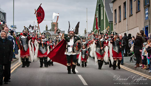 Marching through Lerwick