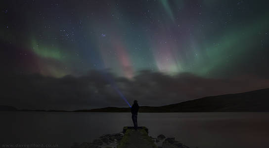 Self Portrait Under The Northern Lights