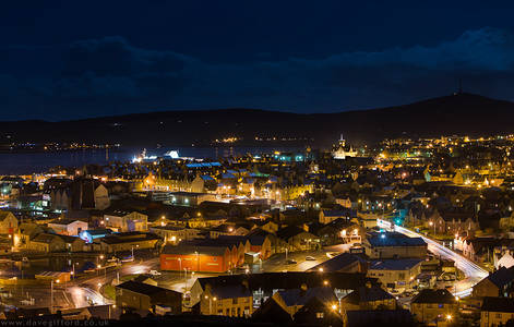 Lerwick at Night