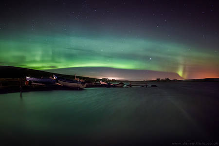 Aurora Over Tingwall Loch