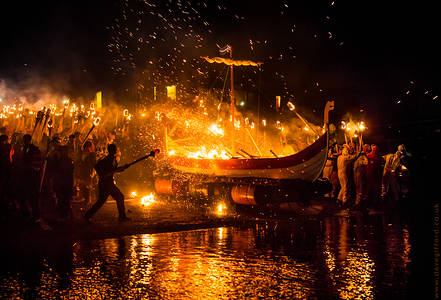 Throwing in the Torches - Delting Up Helly Aa