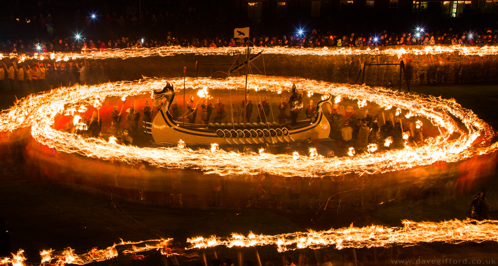 Up Helly Aa Burning Ring of Fire