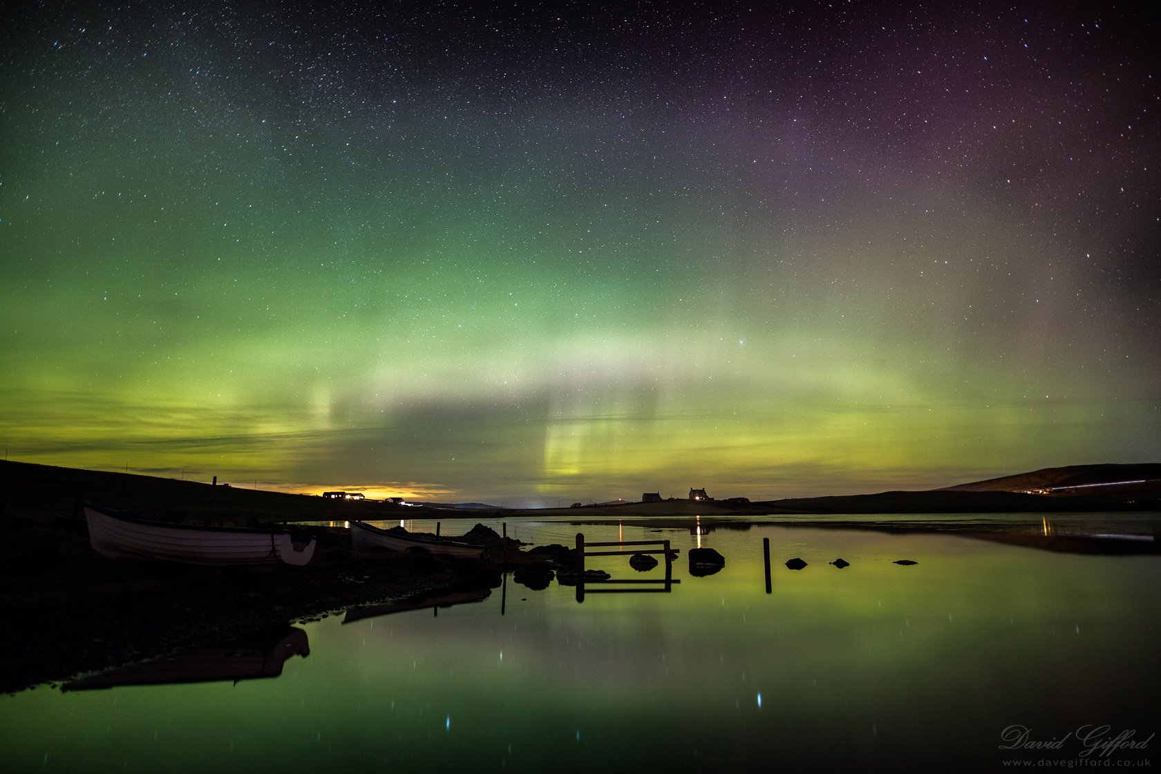 Aurora Reflections at Tingwall Loch