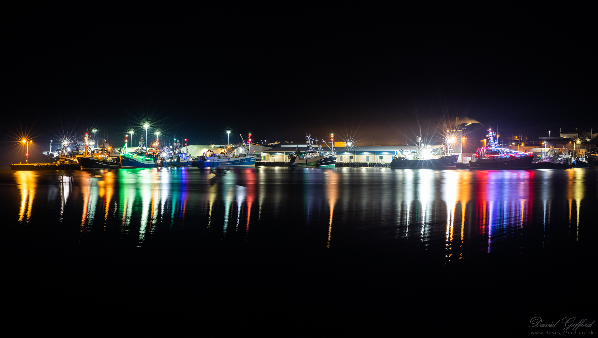 Festive Scalloway Harbour